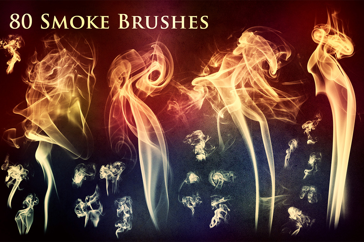 80 Smoke and Fire Brushes