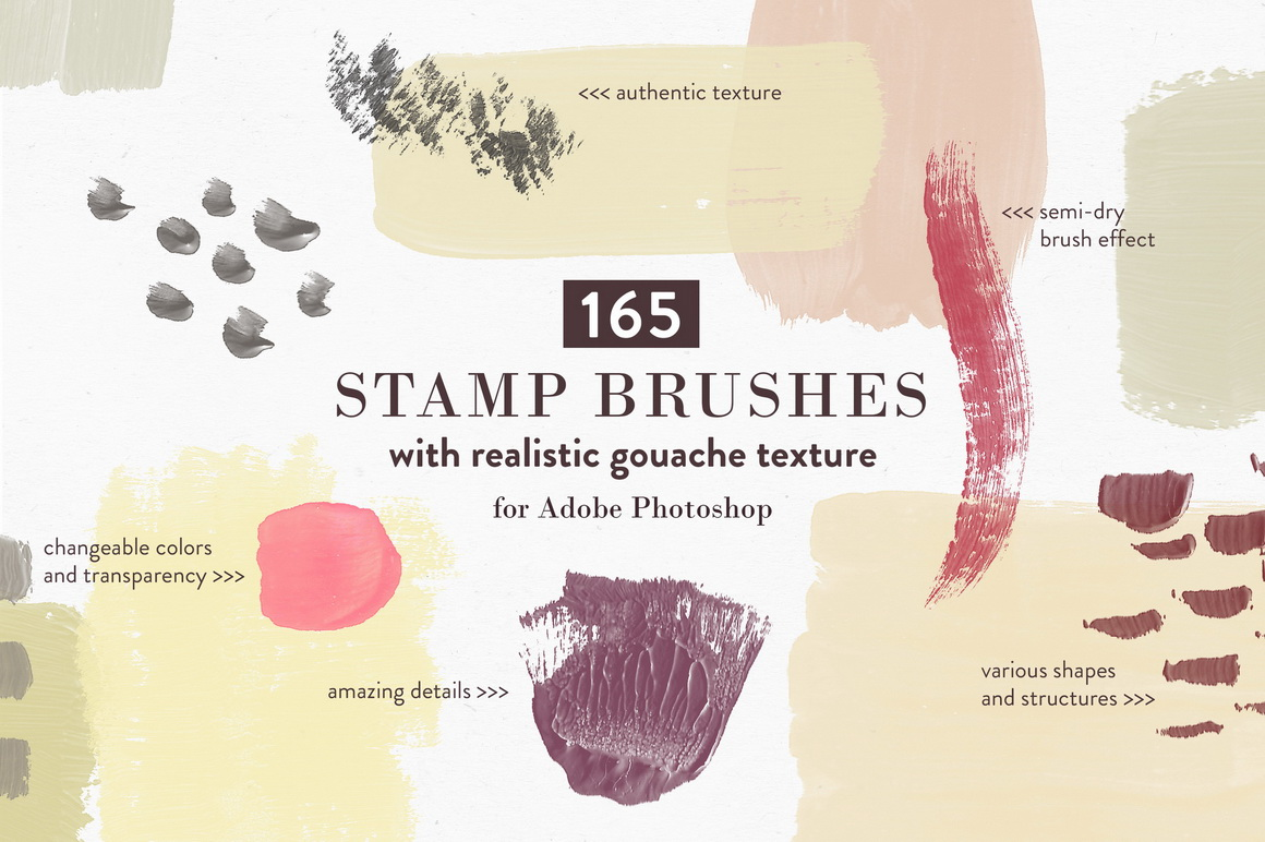 Abstract Gouache Smears - Photoshop Brushes