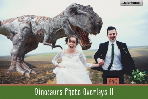 Dinosaur Photo Overlays Vol. 2