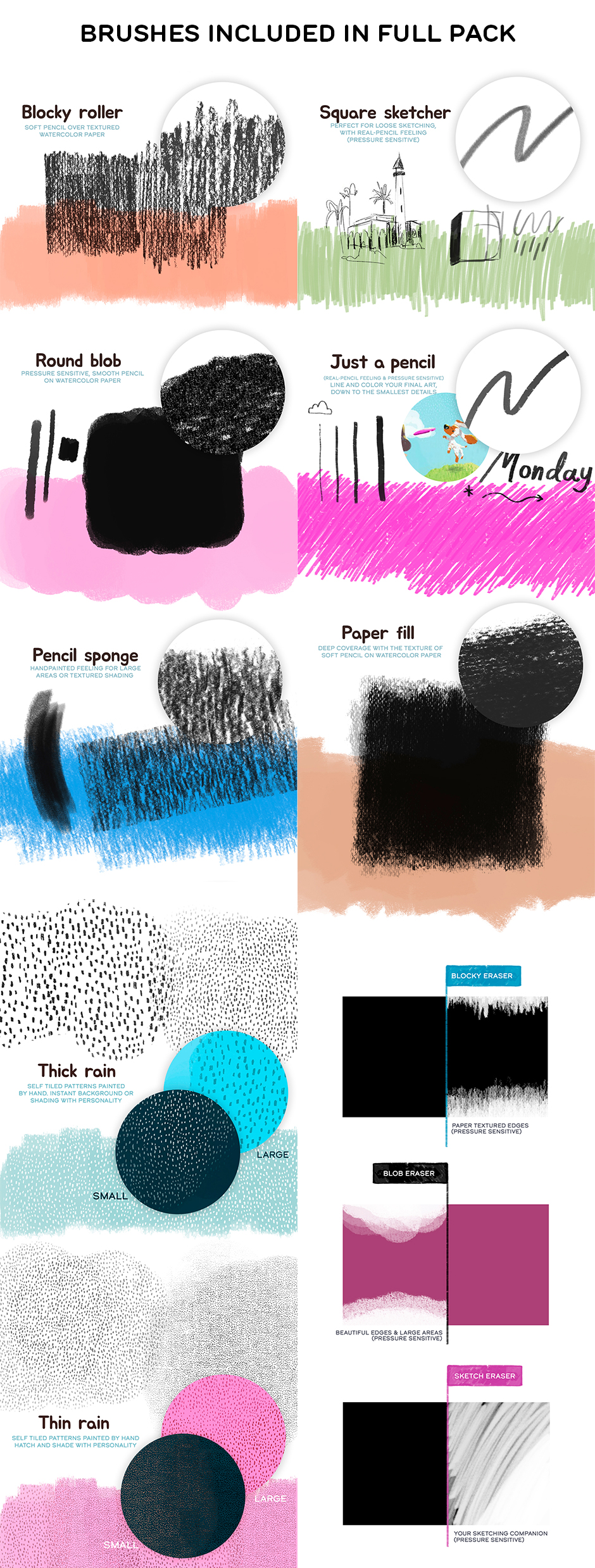 HOMwork Freebie: Laura's Real Pencil And Paper Photoshop Brushes