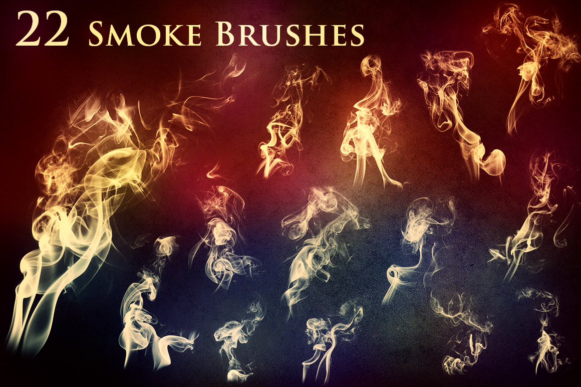 22 Smoke And Fire Brushes