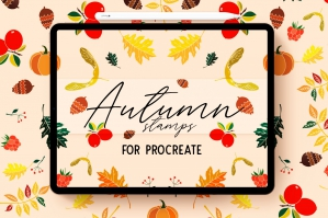 Autumn Procreate Stamp Brushes