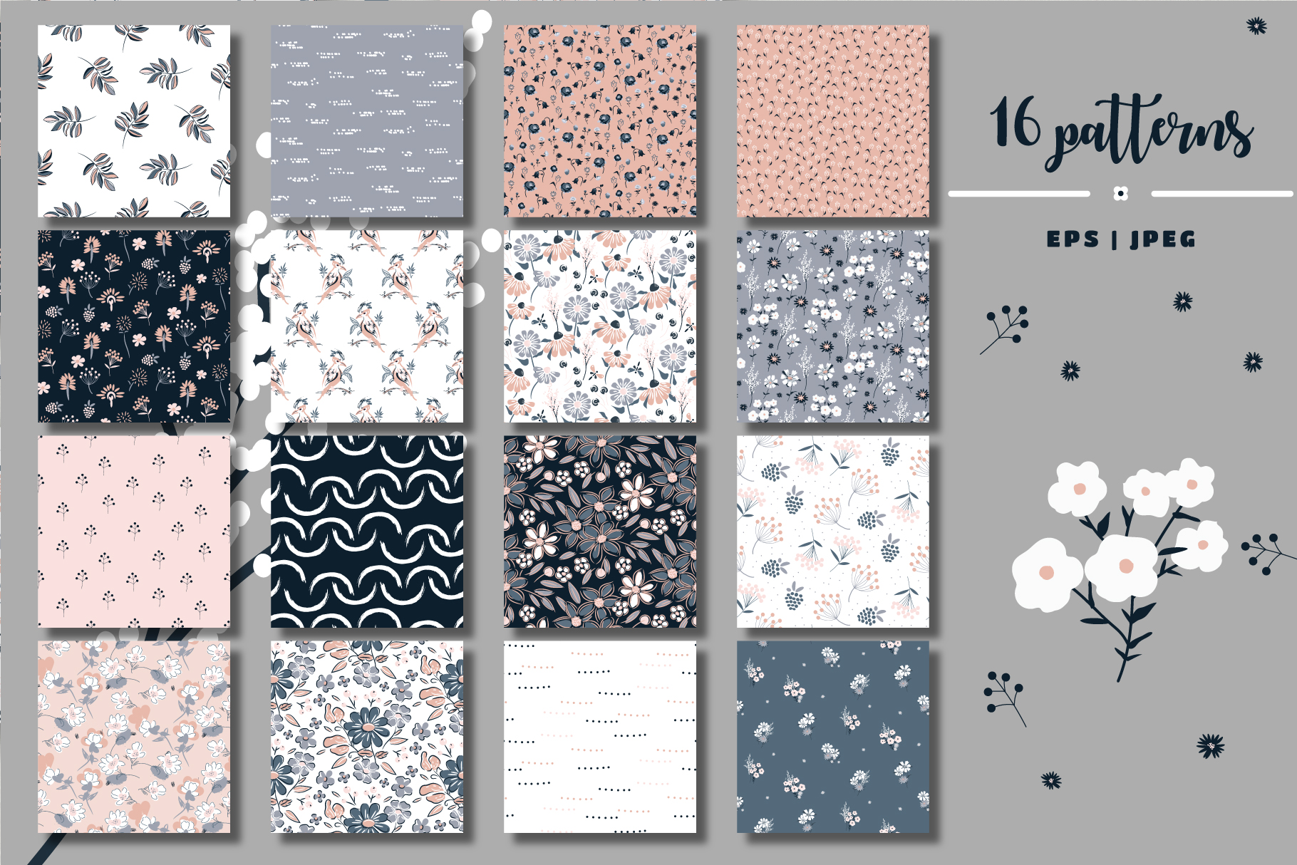 Floral Field - Patterns & Graphics