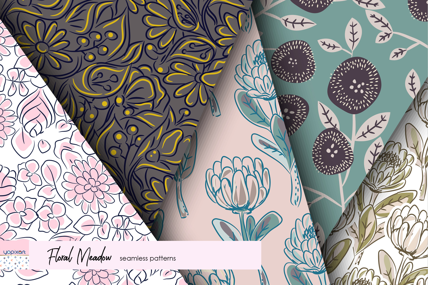Floral Meadow - Seamless Patterns