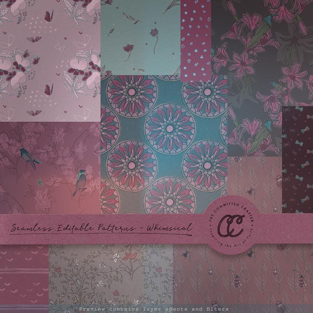 Seamless Editable Patterns - Whimsical