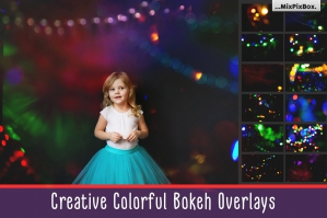 Colorful Bokeh Photo Overlays