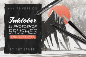 Inktober 2019 Photoshop Brushes