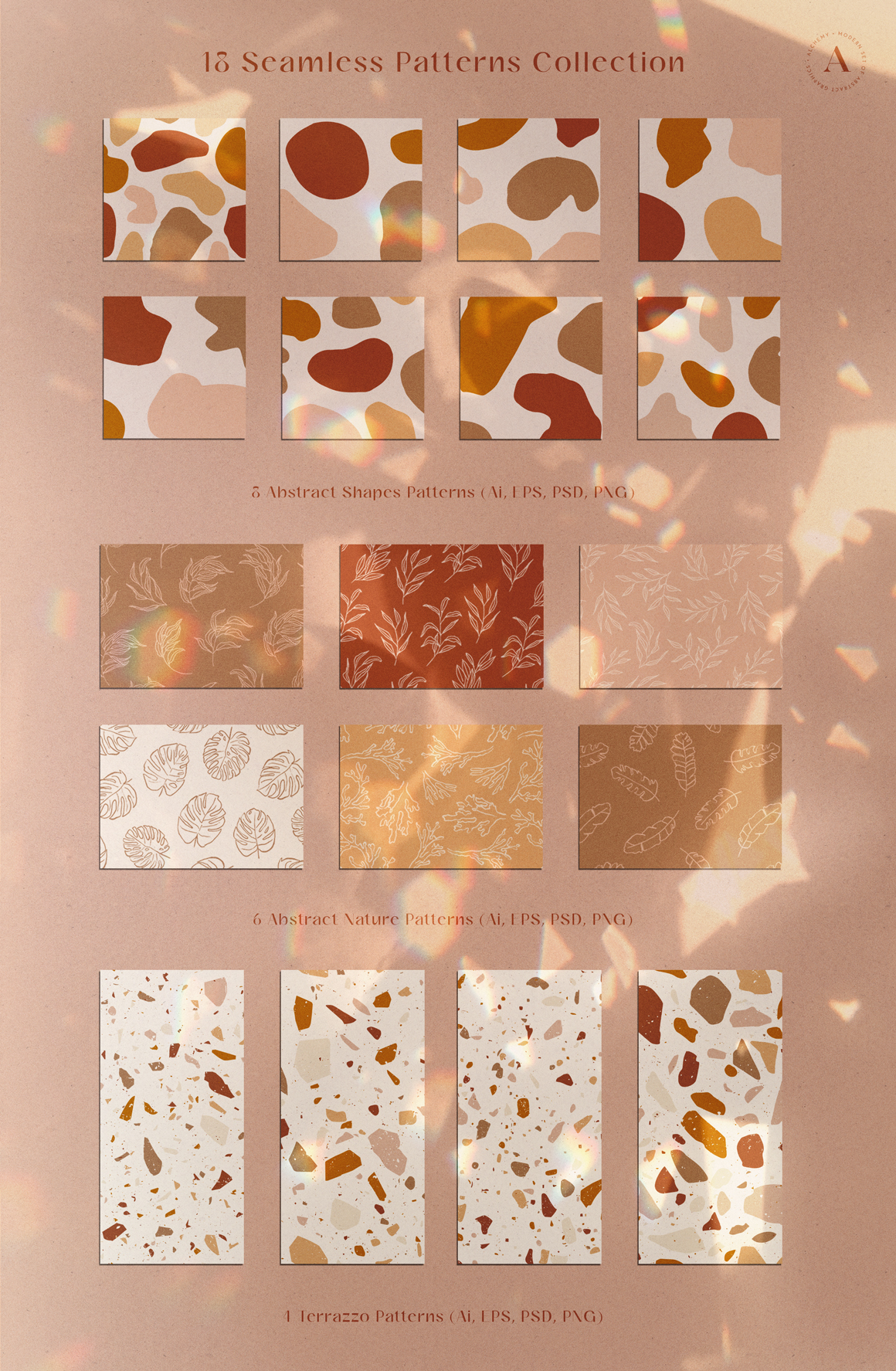 Modern Abstract Graphics Collection 4 in 1