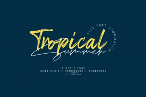 Tropical Summer Fonts