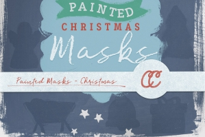 12 Painted Masks - Christmas