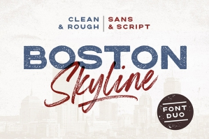 Boston Skyline Font Duo