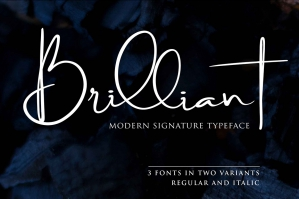Brilliant - Signature Font Trio