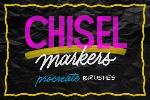 Chisel Brush Pack for Procreate