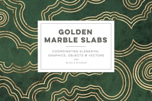 Golden Marble Slabs: Digital Graphics & Vectors