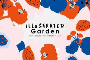 Illustrated Garden Graphics Pattern Set
