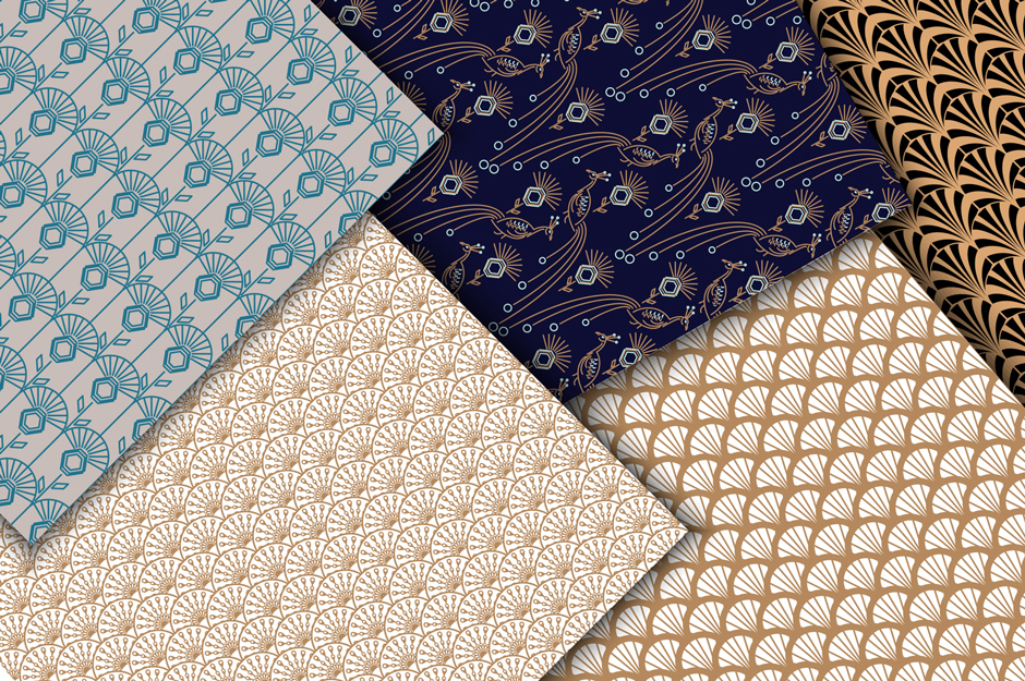 Peacock Fest - Seamless Patterns Pack