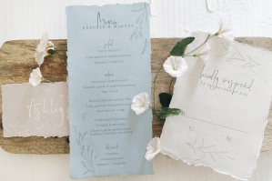 Rustic Ivory and Blue Wedding Suite