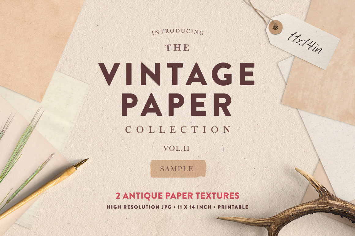 HOMwork Freebie: The Vintage Paper Collection Vol. 2