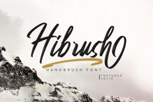 Hibrush - Handbrush Font