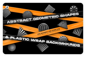Abstract Geometric Shapes & Backgrounds Bundle