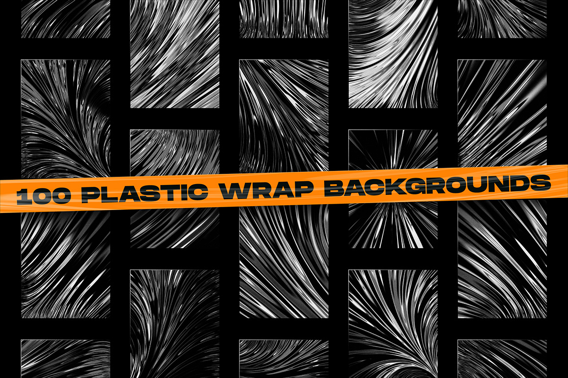 200 Abstract Shapes & Plastic Wrap Backgrounds