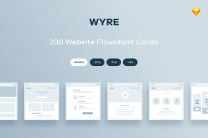 200+ Website Flowchart Cards for Sketch