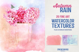 Autumn Rain Watercolor Textures