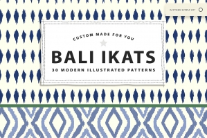 Bali Ikats - Modern Illustrated Patterns