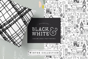 Black & White Winter Patterns