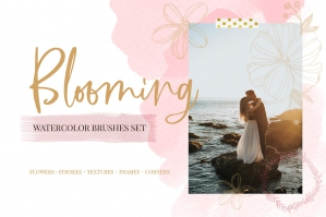 Blooming Watercolor Brushes Set