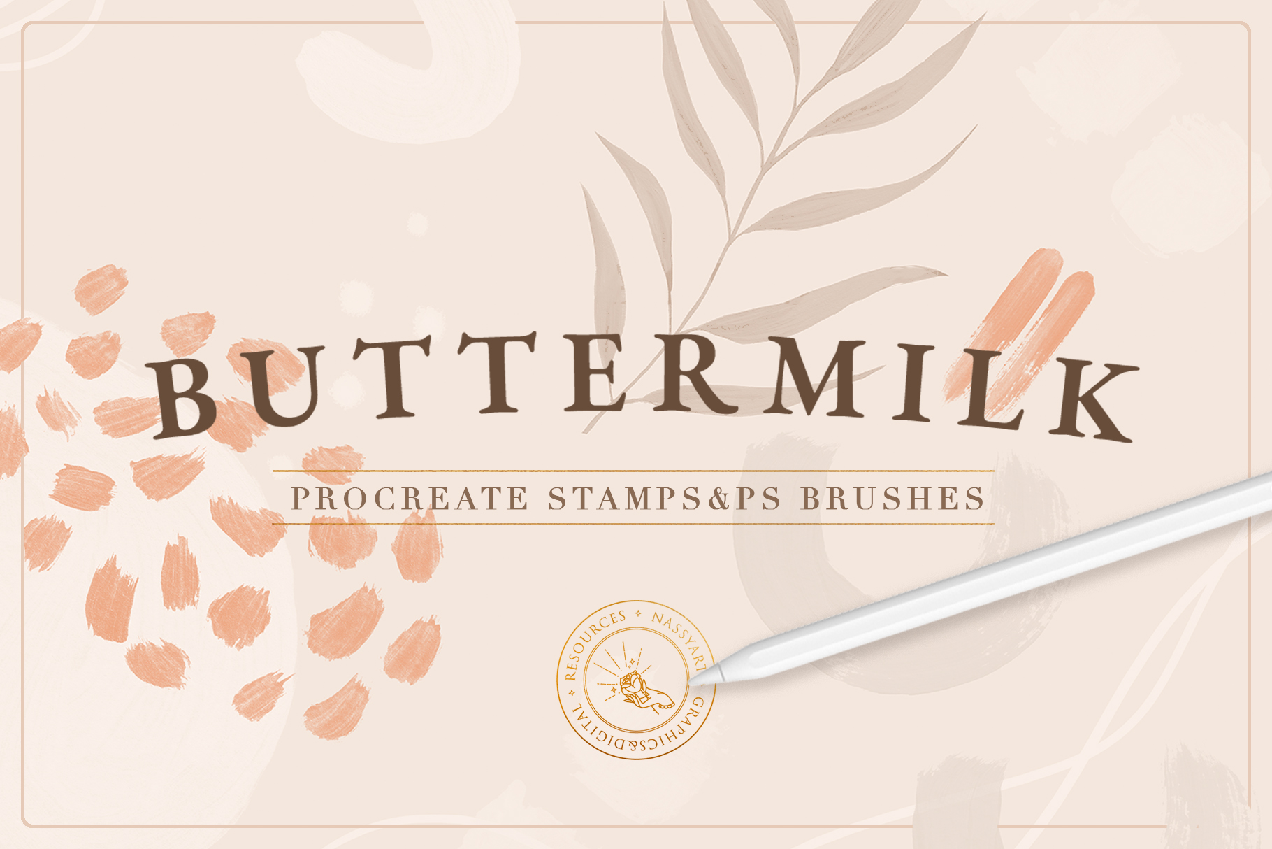 Buttermilk Procreate Stamps & Photoshop Brushes