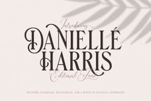 Danielle Harris - Editorial Font