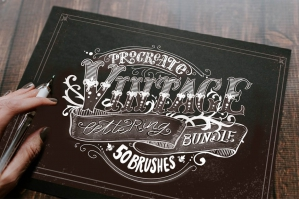 Procreate Vintage Lettering Bundle