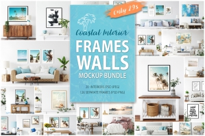 Frames & Walls Coastal Mockups Bundle