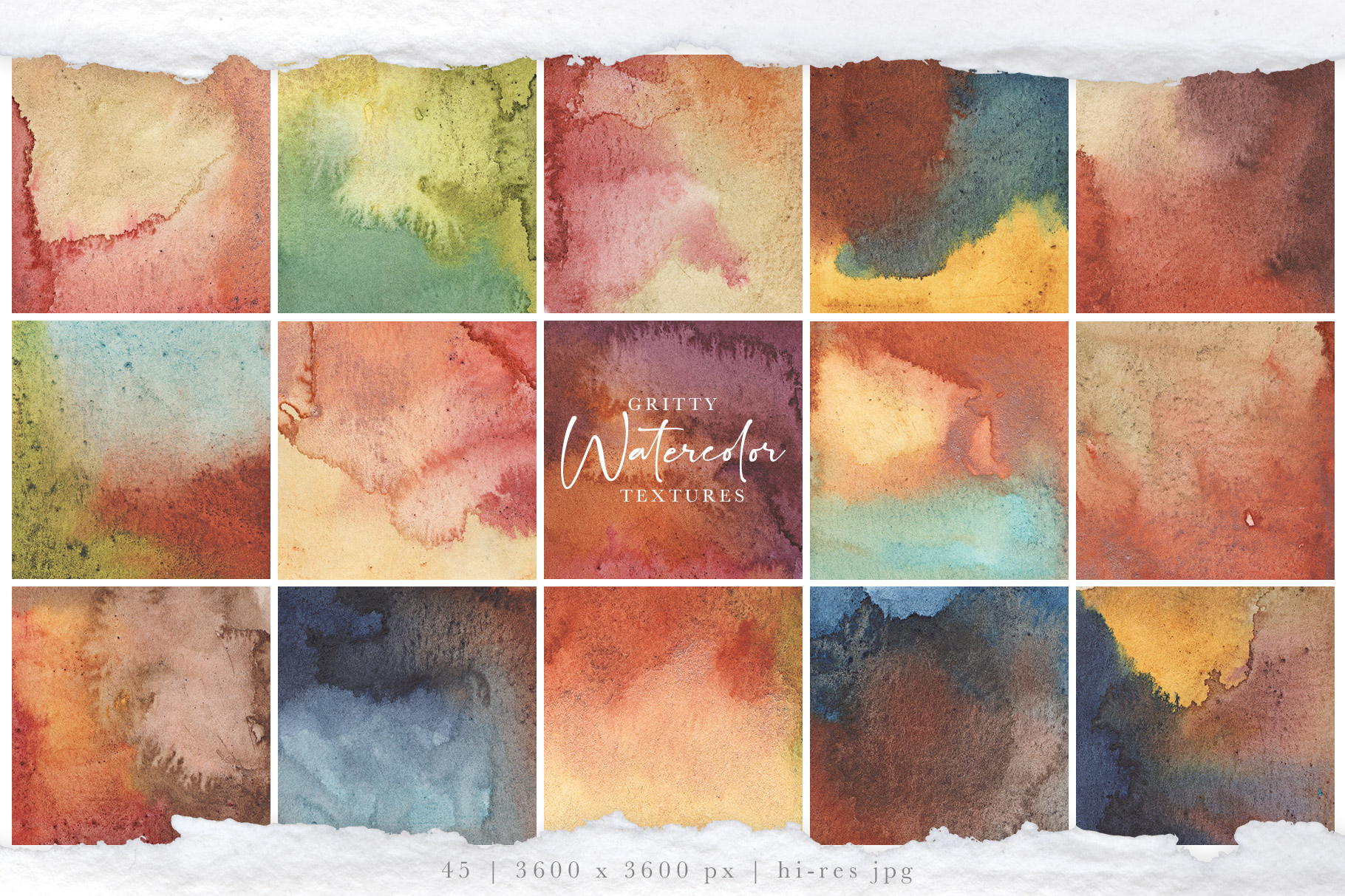 Gritty Watercolor Textures Vol. 1