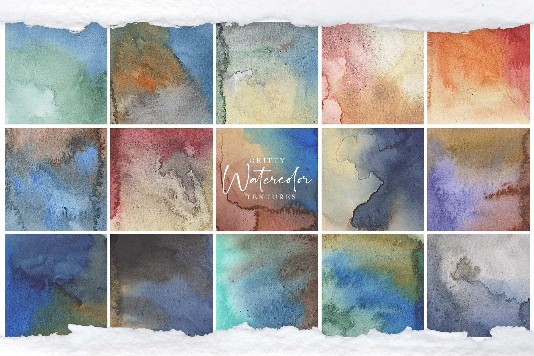 Gritty Watercolor Textures Vol.2 - Nightflower