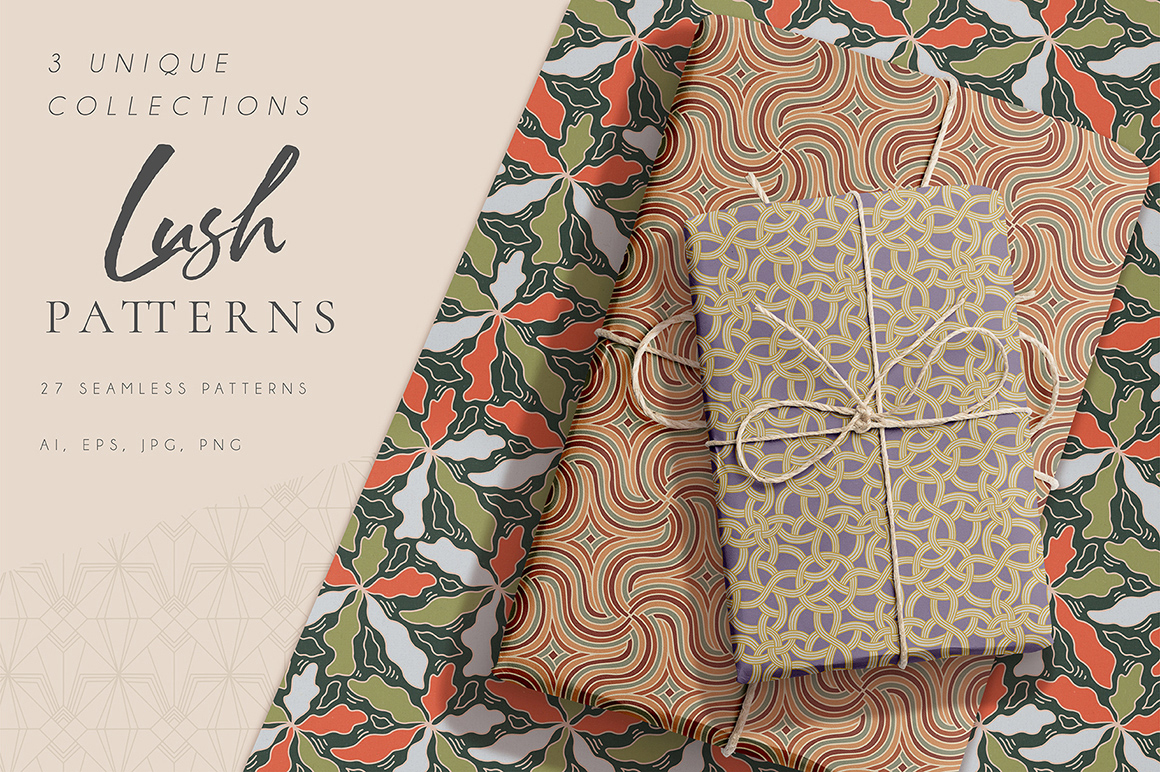 Lush Seamless Patterns Kit