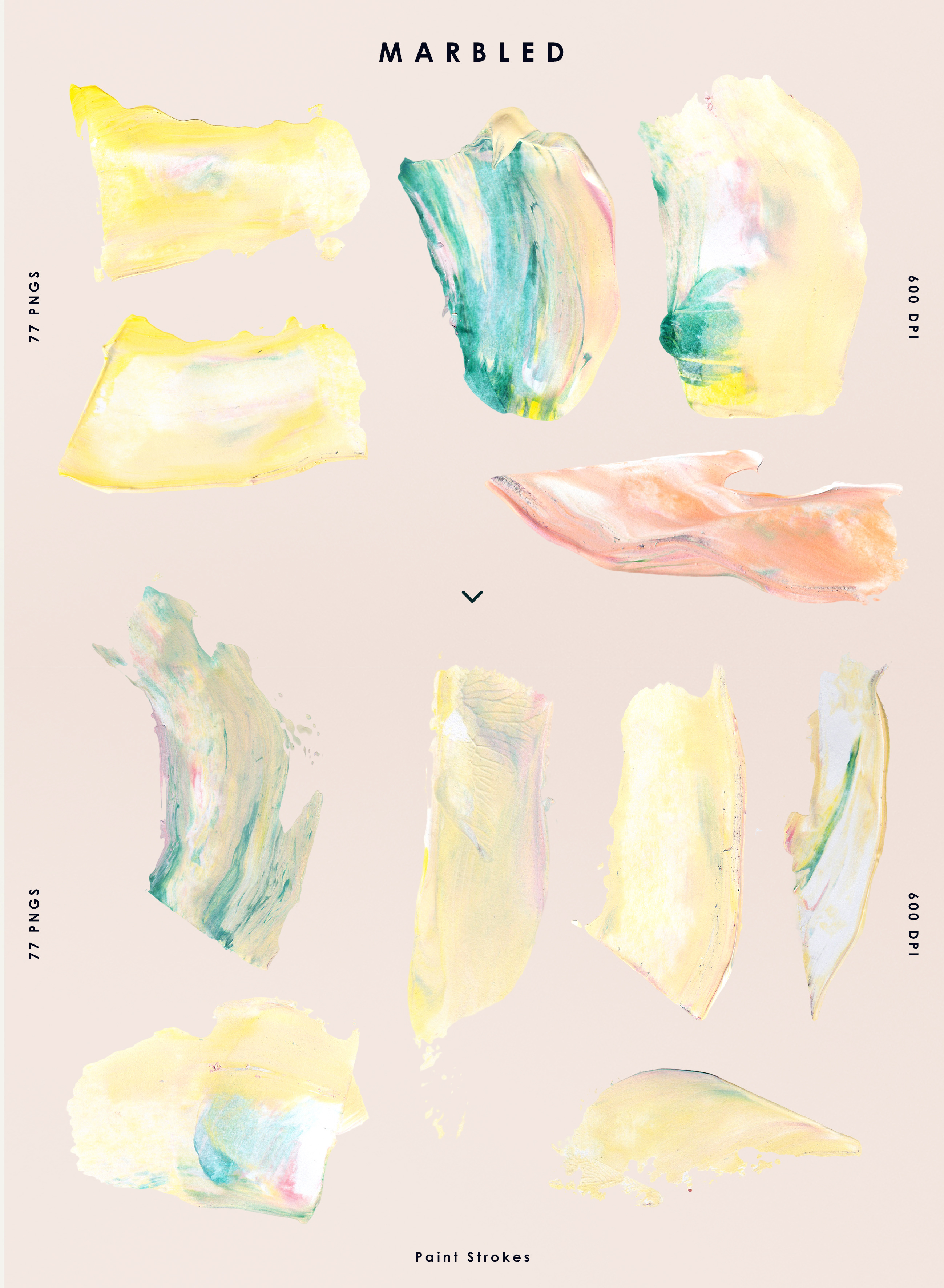 Marbled Paint Stroke Cut Outs