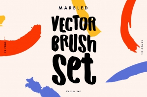 Marbled Vector Brush Set