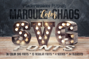 Marquee Chaos View - Color Fonts