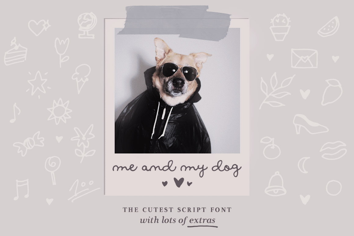 Me and My Dog Script Font
