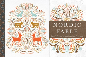 Nordic Fable Scandinavian Folk Art Graphics