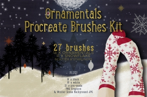 Ornamentals Procreate Brushes Kit