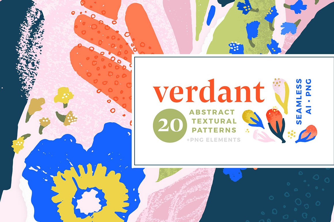 Verdant - Abstract Seamless Patterns
