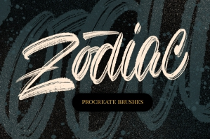 Zodiac Lettering Brushes