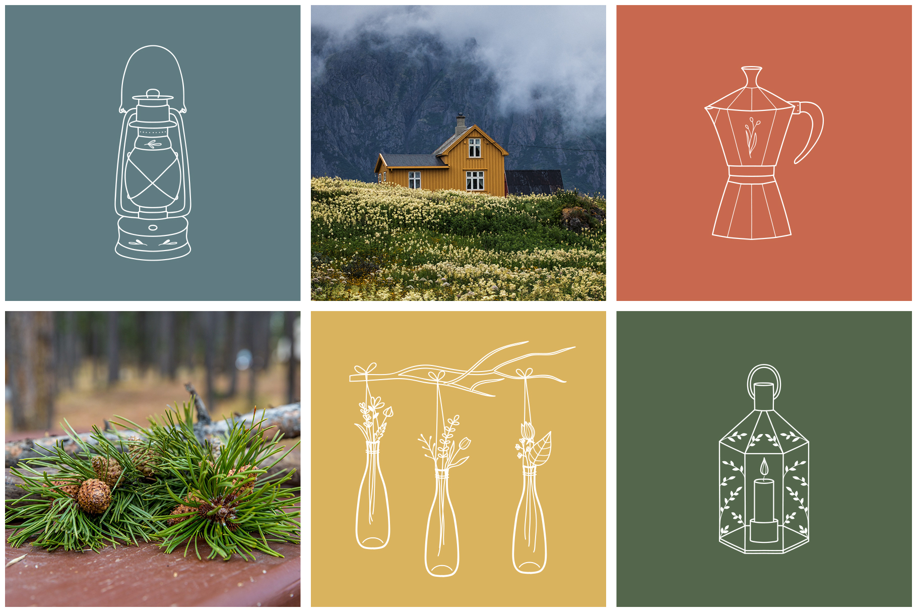 100 Hand Drawn Logo Elements - Furniture Line Icons
