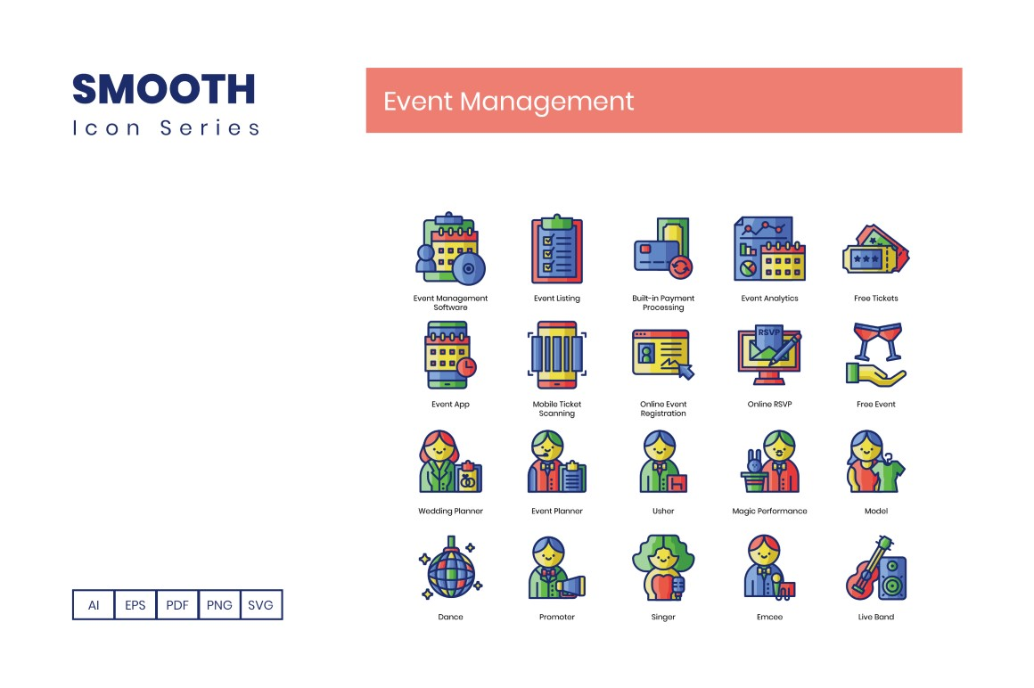 70 Event Management Icons