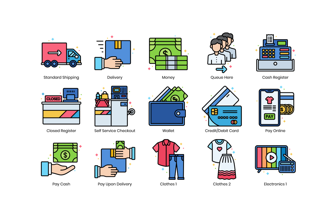 70 Icons for Black Friday