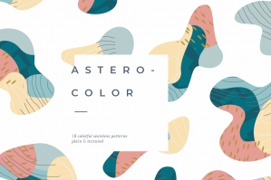 Astero-Color Seamless Pattern