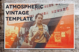 Atmospheric Vintage Photoshop Template